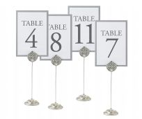Lillian Rose Elegant Silver Jewelled Table Markers